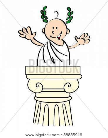 Caesar. You recognize me?  i'm Julius Caesar,  the perfect speaker.