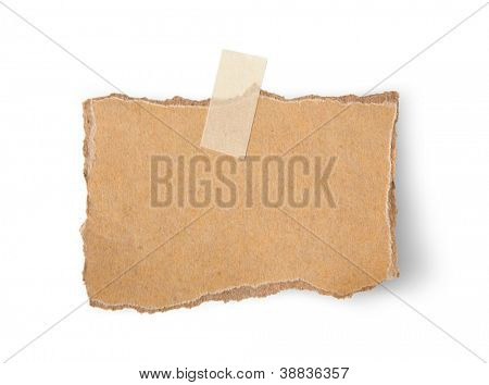 Note paper paper on white background