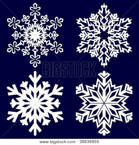 Decorative abstract snowflake. Vector illustration.