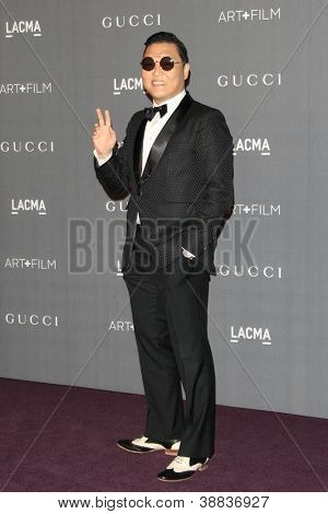 LOS ANGELES, CA - OCT 27: Psy at the LACMA 2012 Art + Film Gala at LACMA on October 27, 2012 in Los Angeles, California