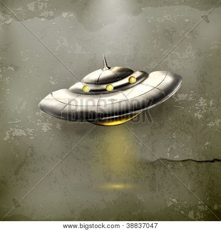 Unidentified flying object, old-style vector