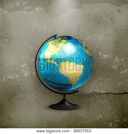 School globe, old-style vector