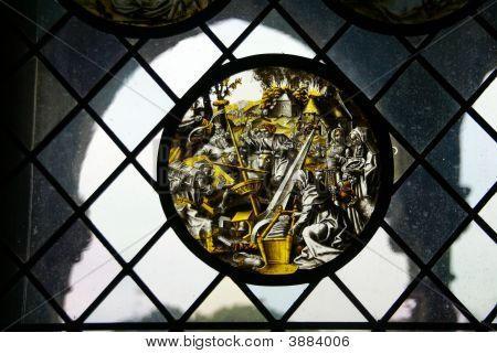 Stained Glass, Religious Christmas Scene