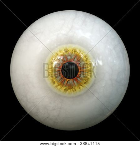An image of a scary halloween eyeball