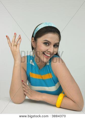 Beautiful Young Asian Woman Of Indian Origin
