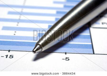 Steel Pen Macro Financial Concept