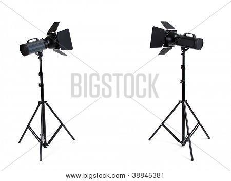 Leere Fotostudio mit Lampe