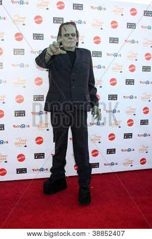 LOS ANGELES - OCT 27:  Frankenstein Costume arrives at