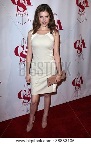 LOS ANGELES - OCT 29:  Anna Kendrick arrives at the Casting Society of America Artios Awards at Beverly Hilton Hotel on October 29, 2012 in Beverly Hills, CA