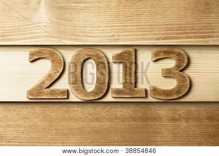 2013 year made of wood