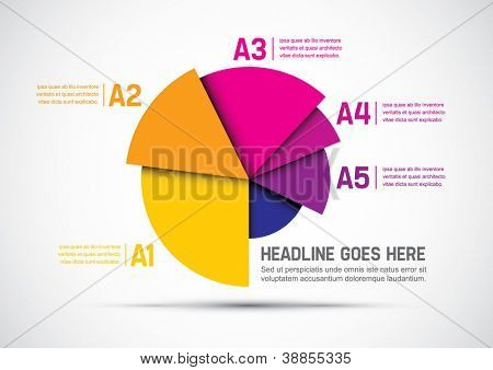 vector of abstract chart and info-graphic