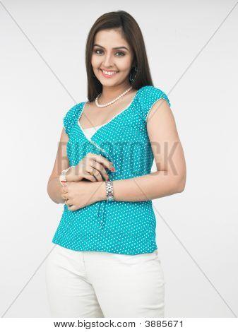 A Shy Indian Urban Woman