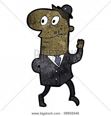 banquero amistoso de dibujos animados