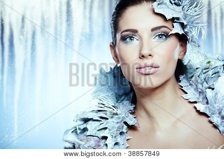 Winter queen woman