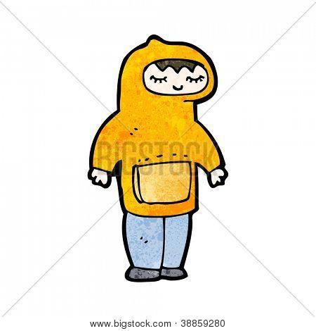 cartoon man wearing hooded sweatshirt