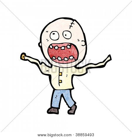 cartoon insane man in straight jacket,