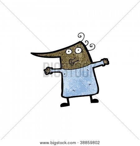 cartoon little old woman