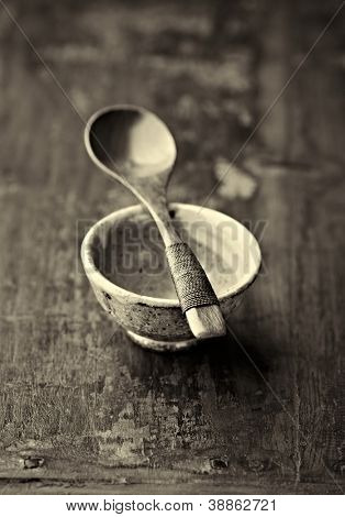 Tea Culture (wooden spoon on a ceramic tea cup)