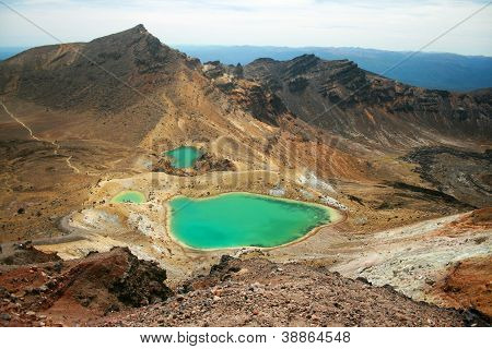 Emerald Lakes at Tongariro National Park