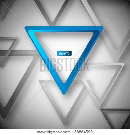 Abstract Triangle Background - Vector Design Concept