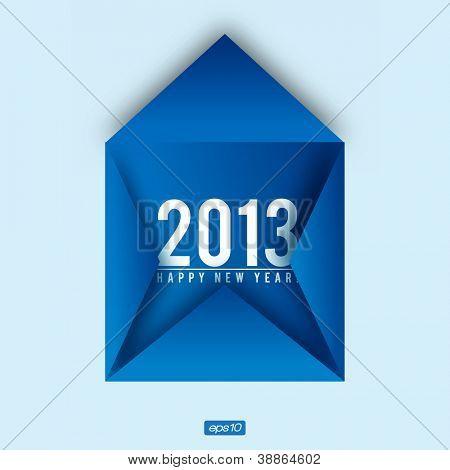 Creative 2013 Happy New Year Card | Editable Vector Design