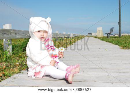 Baby Girl Outside