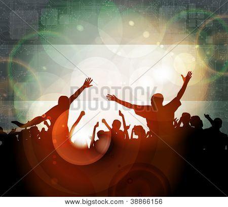 Musik-Ereignis Abbildung. Tanzende Menschen