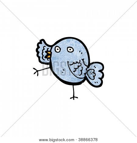 cartoon blue bird