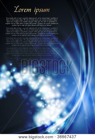 Colourful abstract wavy background. Vector template eps 10