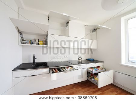 modern kitchen interior in minimalism style