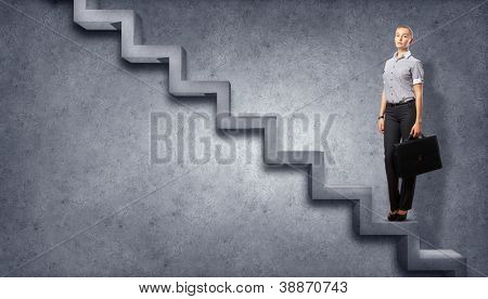 Image of confident business preson with awaiting career growth