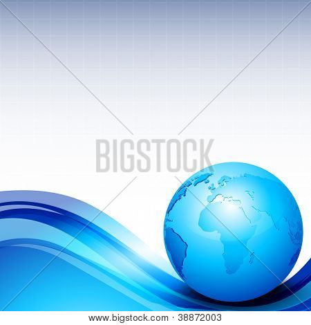 Professional Corporate or Business template for financial presentations showing globe. EPS 10.