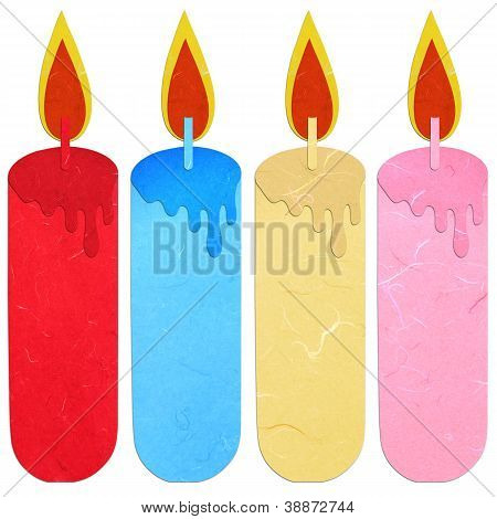 Rice Paper Cut Burning Candle