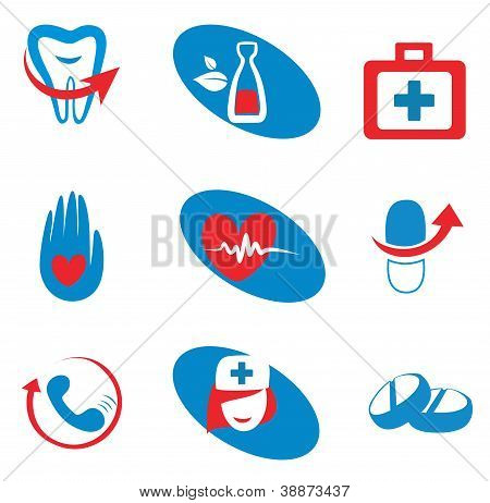 Set Of Medicine Icons