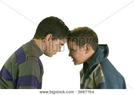 Two Stubborn Boys Arguing