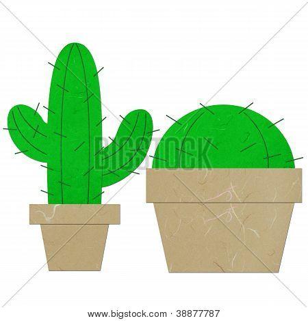 Rice Paper Cut Cactus