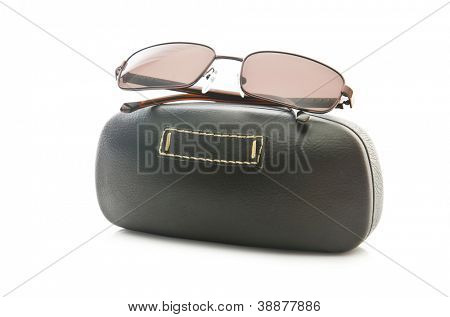 Stylish sunglasses isolated on the white