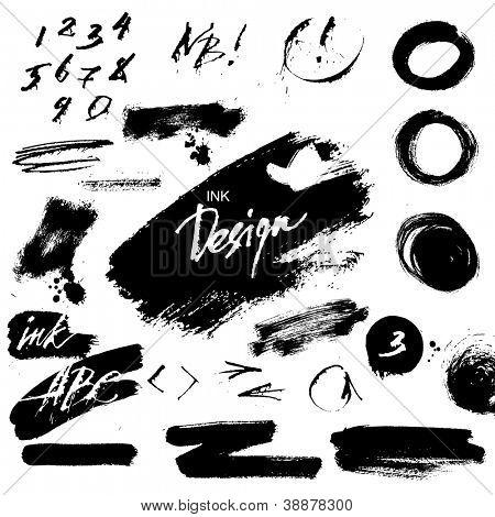 Tinte-Grunge-Design-Elemente