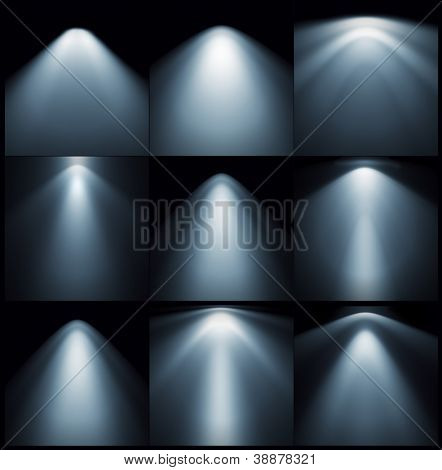 different types of lights on the wall