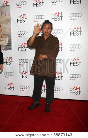 "LOS ANGELES - NOV 2:  Kim Ki-Duk arrives at the AFI Film Festival 2012 ""Life of Pi"" Screening at Graumans Chinese Theater on November 2, 2012 in Los Angeles, CA"