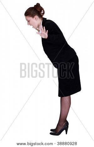 Businesswoman falling