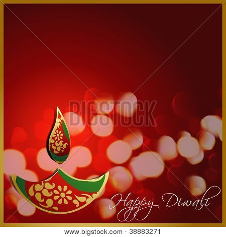 stylish vector diwali diya design illustration