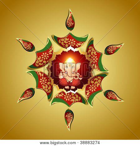 beautiful vector design of indian god ganesha