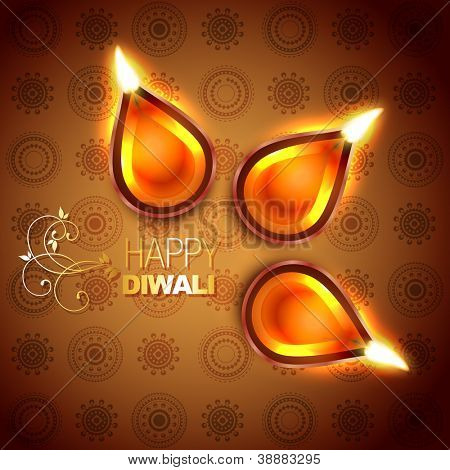 hindu festival diwali vector illustration