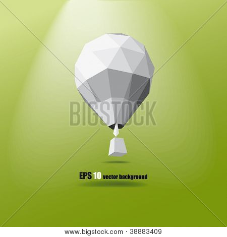 hot air balloon on the green background eps 10