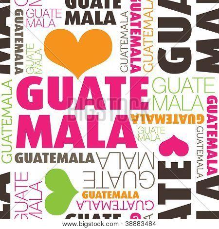 Eu amo a cidade de Guatemala tipografia perfeita base padrão em vetor