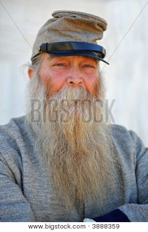 Portrait Of Old Soldier