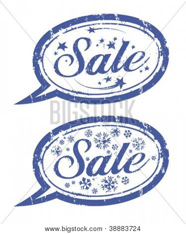 Winter sale rubber stamps.