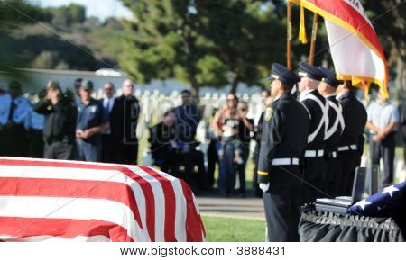 Honor Guard And Casket
