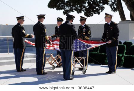 Military Honor Guard Practice